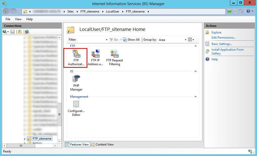 8_5 Создание и настройка виртуальной папки FTP