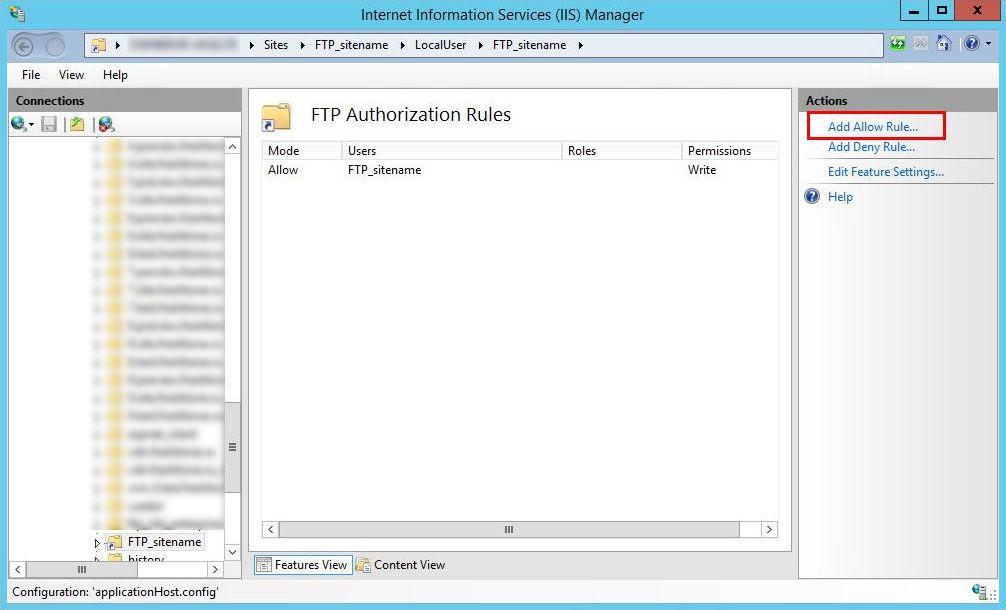 8_6 Создание и настройка виртуальной папки FTP